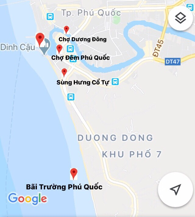 Ban do du lich Phu Quoc 2020